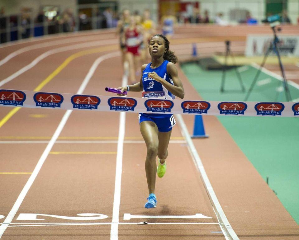 Jazmine Fray anchored Kellenberg's Sprint Medley Relay to