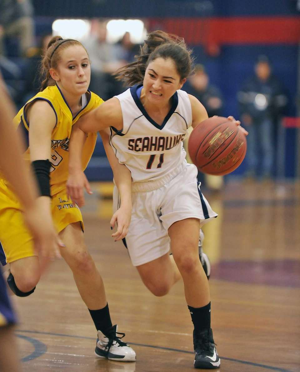 Holly Logan of Cold Spring Harbor drives to