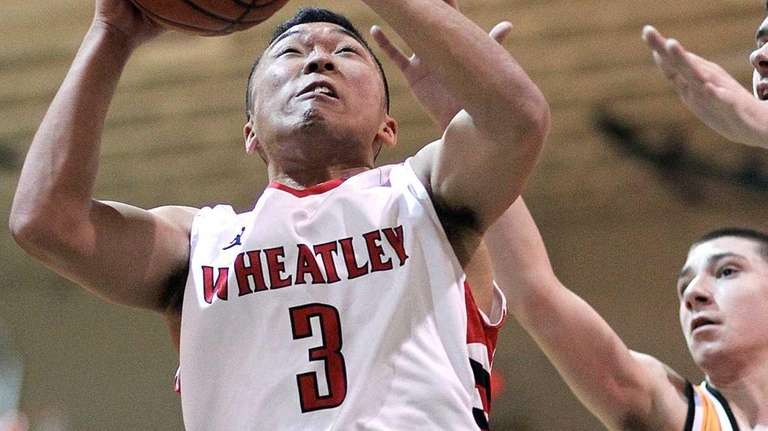 Wheatley's Christian Hyon goes up the middle during