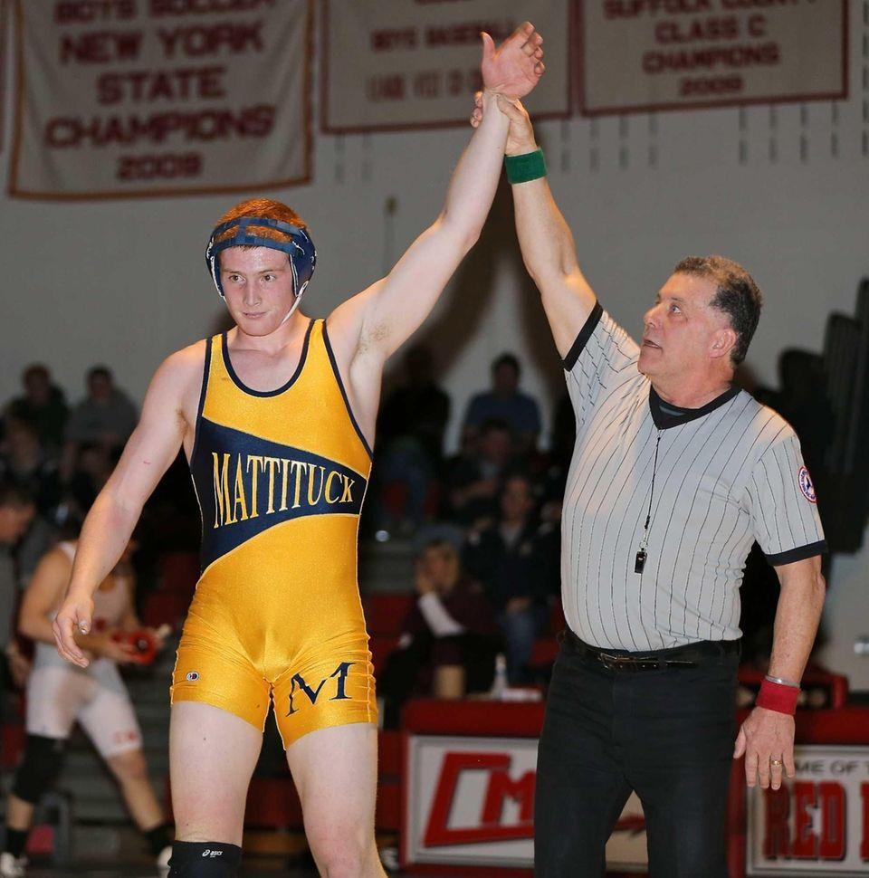 Mattituck's Christopher Baglivi gets the win in the