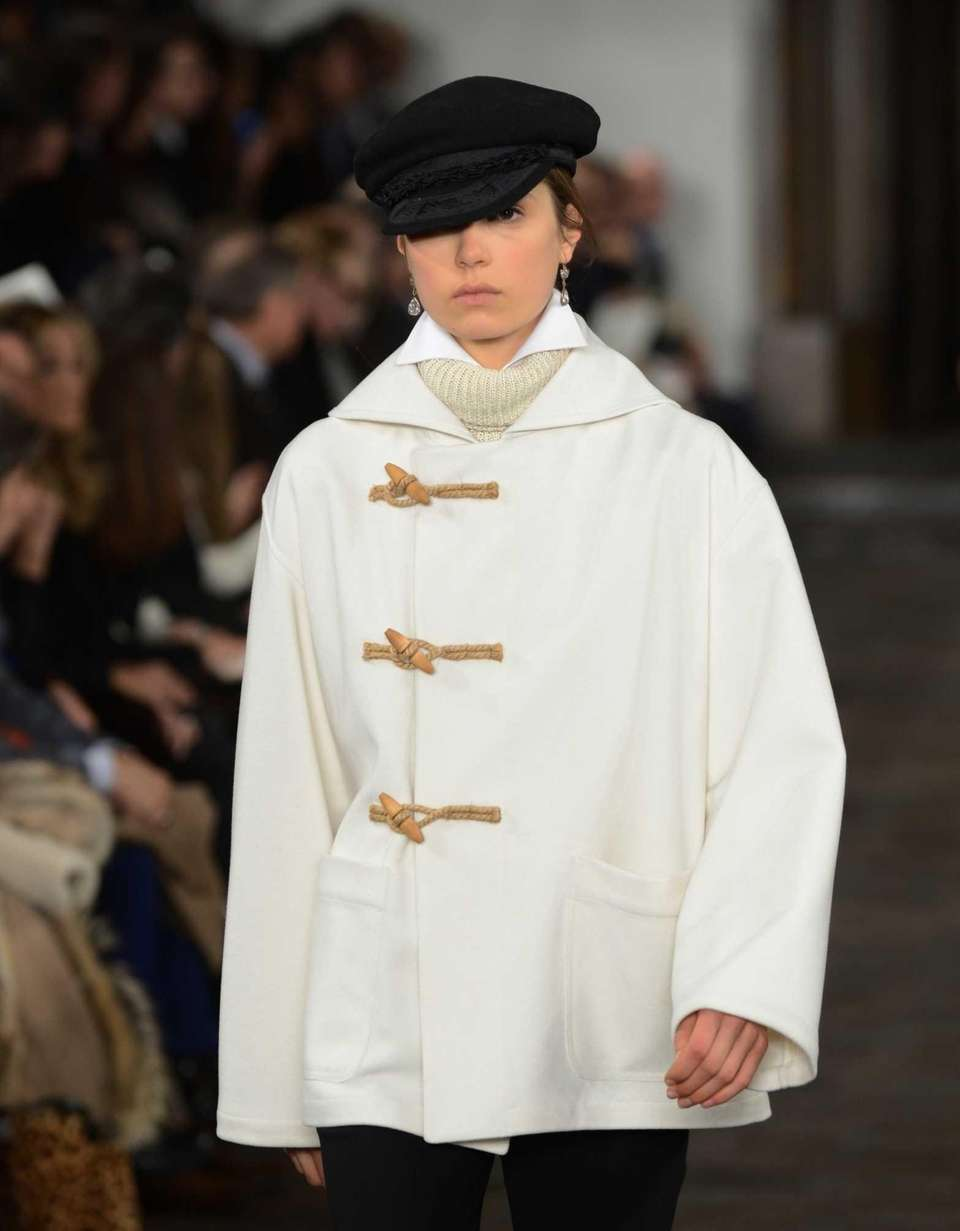 A model wears designs by Ralph Lauren during