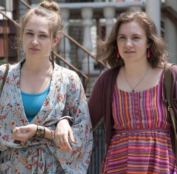 Jemima Kirke (left) and Lena Dunham costar in
