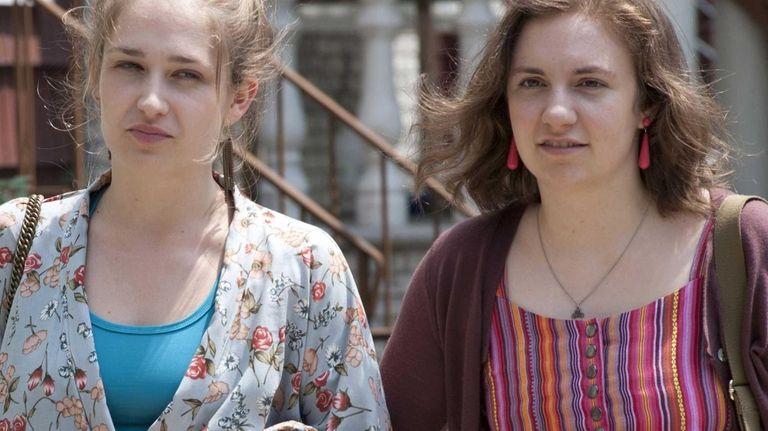 Jemima Kirke (left) and Lena Dunham costar in