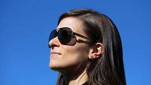 Danica Patrick, driver of the GoDaddy.com Chevrolet, looks