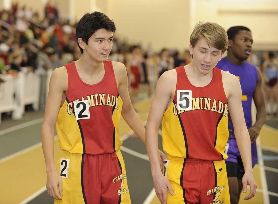 Chaminade's Sean Kelly, left, and Gunnar Nolan finished