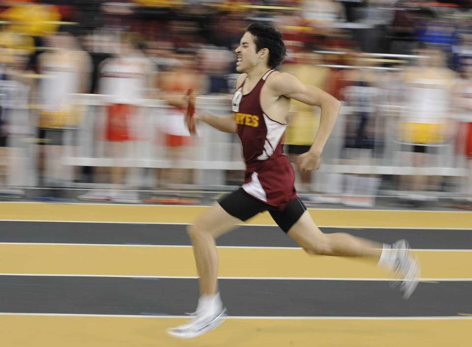 A Cardinal Hayes runner competes in a preliminary