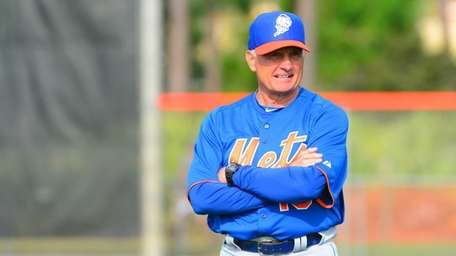 Terry Collins looks on during spring training baseball