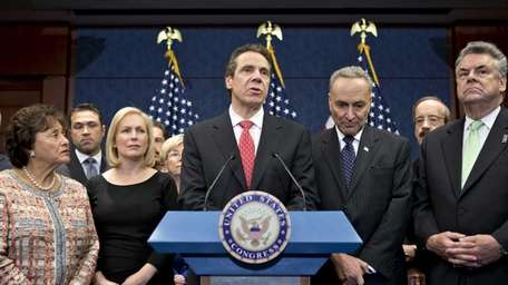 Gov. Andrew M. Cuomo speaks about federal aid