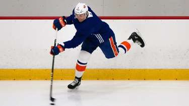 Adam Pelech skates during an Islanders Phase 2