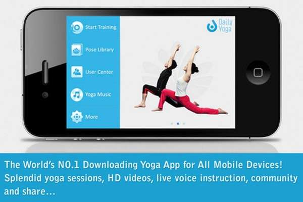 The free Daily Yoga app for IOS and