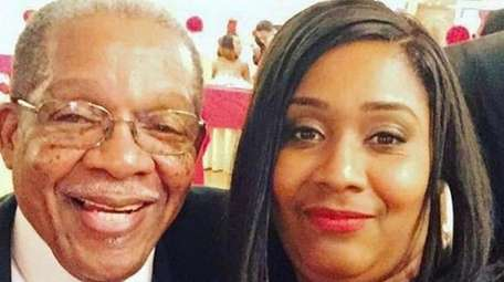 Kenya Farrar, with her father, Vincent Hollins, who