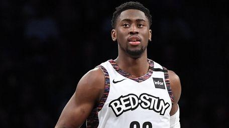 Brooklyn Nets guard Caris LeVert runs down court