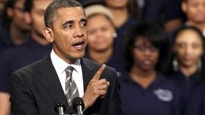 President Barack Obama speaks about strengthening the economy