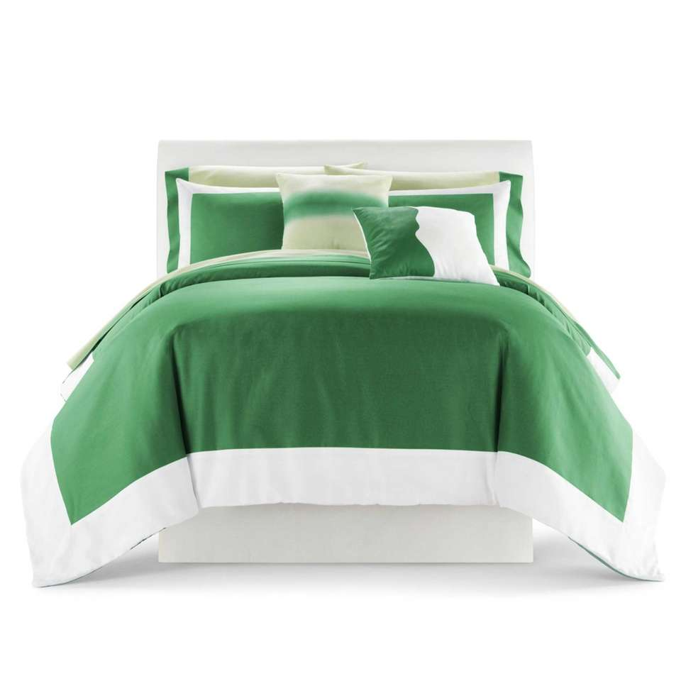 An emerald green bedding set available at JCPenney