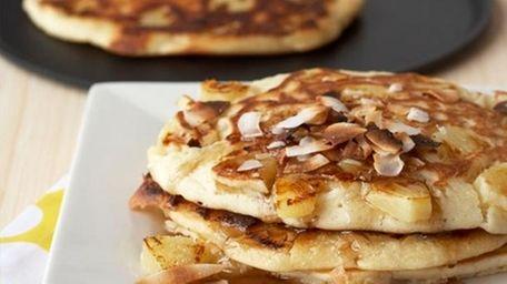 Pina Colada Pancakes courtesy of celebrity chef George
