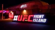 In this handout image provided by UFC, a