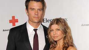 Josh Duhamel and Fergie arrive at the American