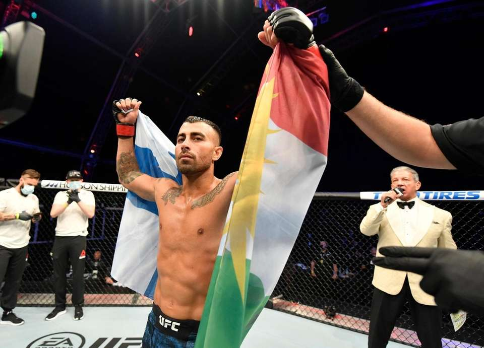 Makwan Amirkhani of Finland reacts after his submission