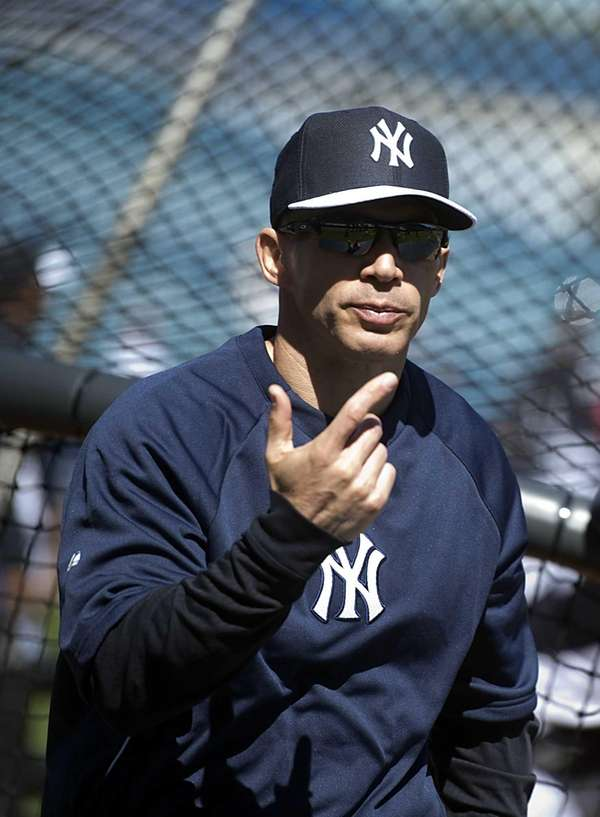 Yankees manager Joe Girardi at batting practice. (Feb.