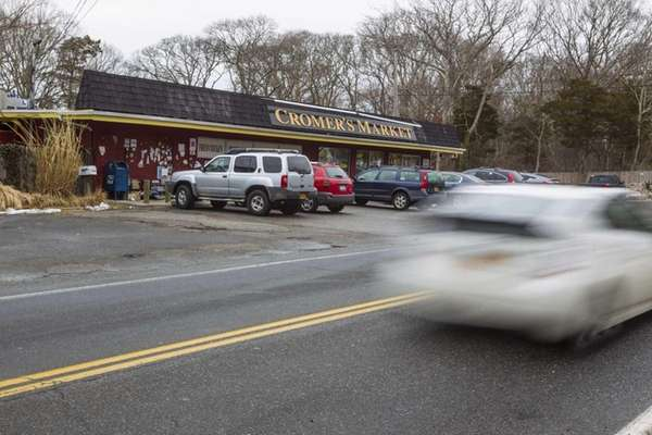 Noyac Road in Sag Harbor where drivers speed