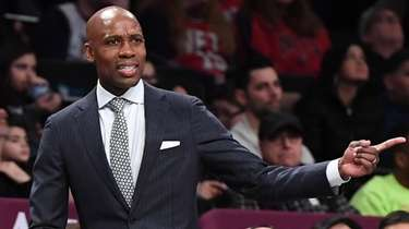 Nets head coach Jacque Vaughn against the Bulls