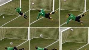 In this six-photo compilation, Germany's goalkeeper Manuel Neuer