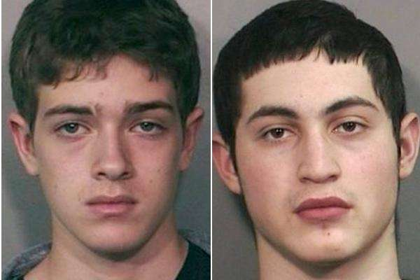 Avraham Moseson, left, 16, of Woodmere and Daniel