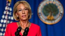 Education Secretary Betsy DeVos on Wednesday at her