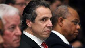 Gov. Andrew M. Cuomo before delivering his state