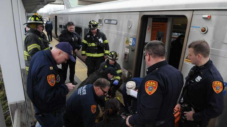 Police said an intoxicated Long Island Rail Road