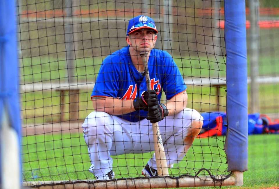 David Wright gets ready to take batting practice