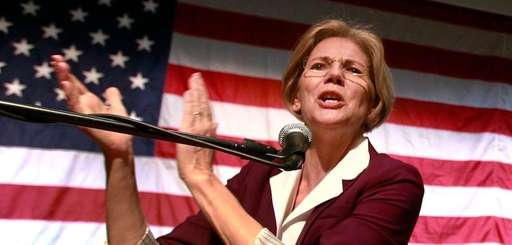 Elizabeth Warren addresses an audience during a campaign