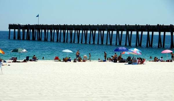 Pensacola Beach, Fla., on the Gulf of Mexico.