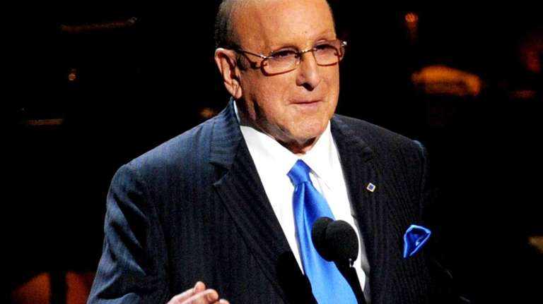 Music producer Clive Davis speaks onatage at a