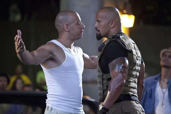 Vin Diesel, left, and Dwayne quot;The Rockquot; in