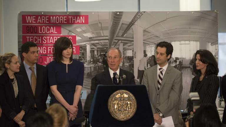 New York City Mayor Michael Bloomberg launches the