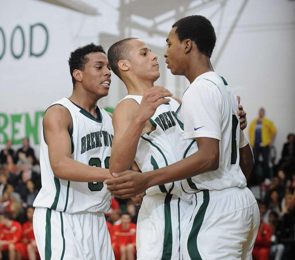 From left, Brentwood's Marcus Hall, Michael Almonacy and