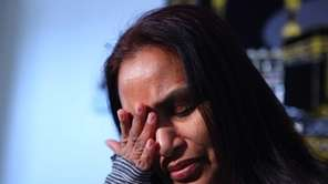 Bibi Ali cries as she talks about her
