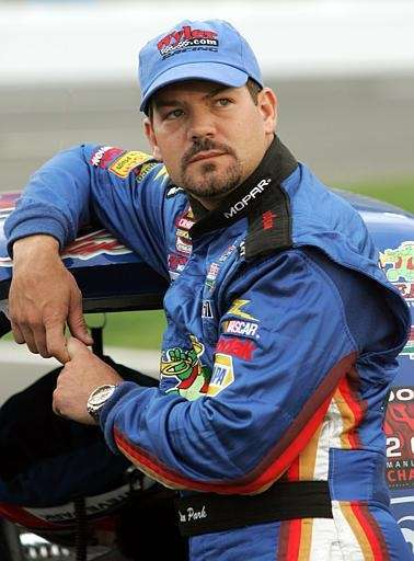 NASCAR Craftsman Truck Series driver Steve Park watches