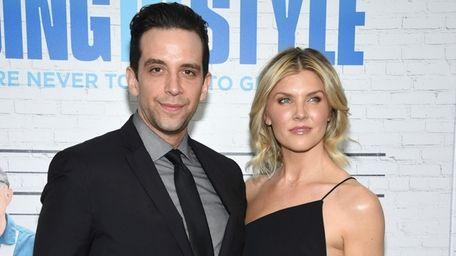 Nick Cordero and Amanda Kloots attend the premiere