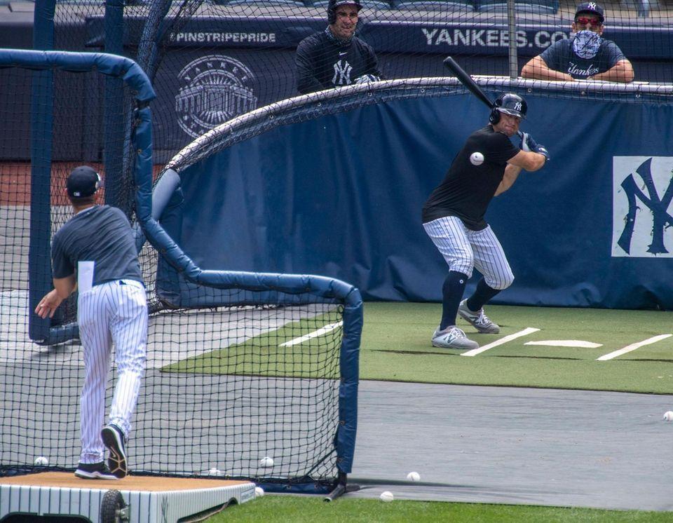 The New York Yankees' LF Brett Gardner #11
