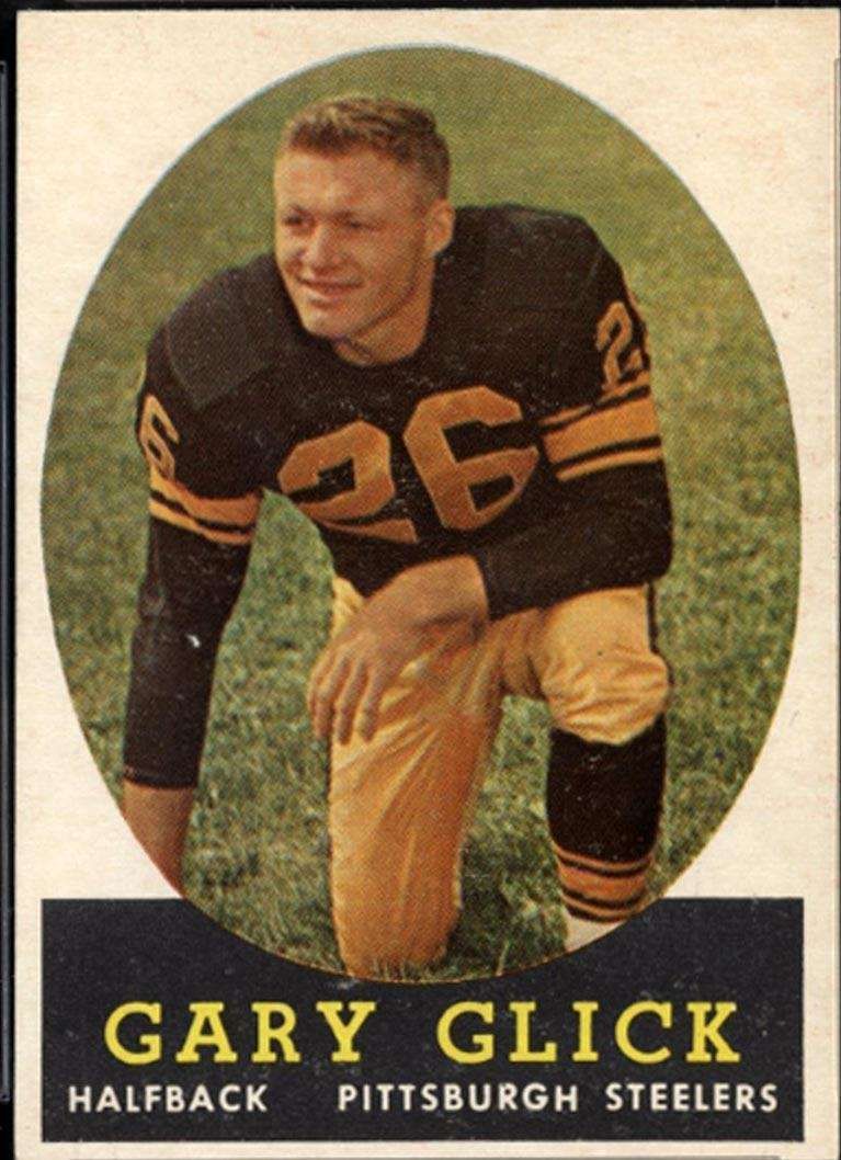 1956: GARY GLICK, DB, Pittsburgh Steelers Seven seasons,
