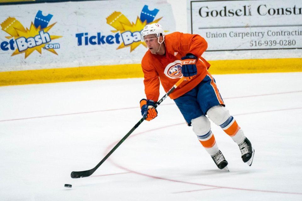 New York Islanders defenseman Johnny Boychuk (55) skates