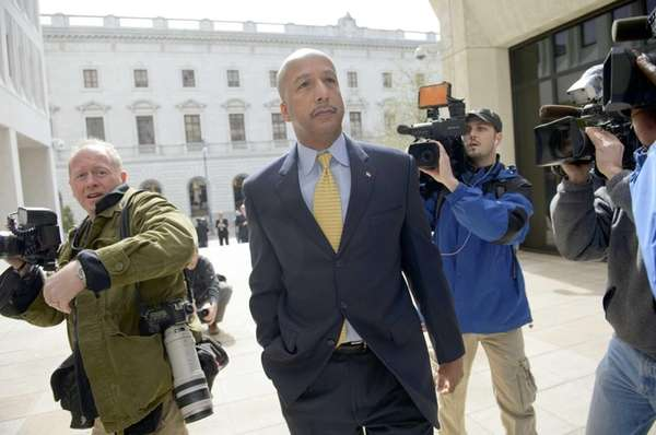 Former New Orleans Mayor Ray Nagin arrives at