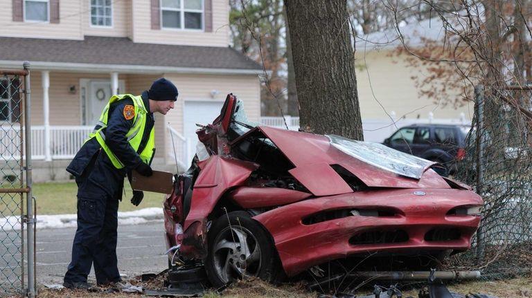 A Babylon man was seriously injured after crashing