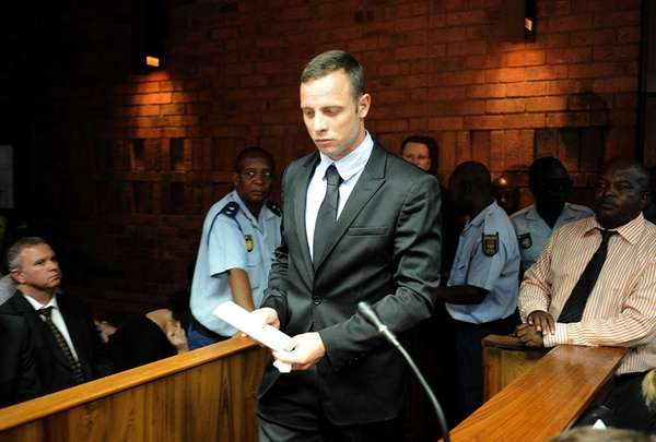 South African Olympic sprinter Oscar Pistorius appears at