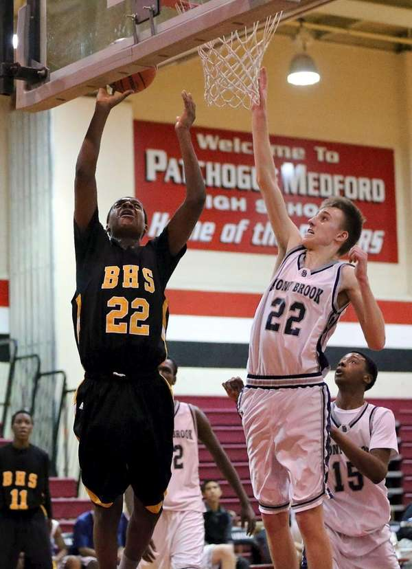 Bridgehampton's Jason Hopson puts up the shot past