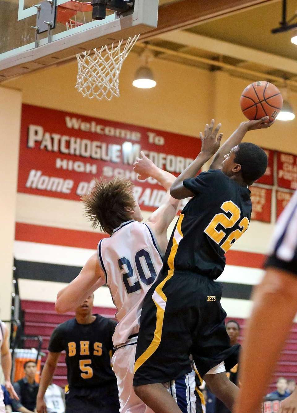 Bridgehampton's Jason Hopson puts up the fadeaway jumper
