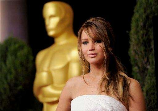 "Jennifer Lawrence, up for Best Actress (""Silver Linings"