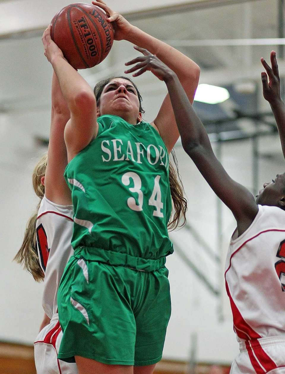 Seaford's Jessica Rini has a tough time inside.